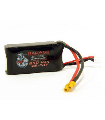 BadAss 45C  850mah 2S LiPo Battery