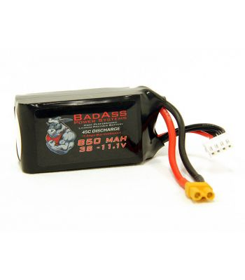 BadAss 45C  850mah 3S LiPo Battery