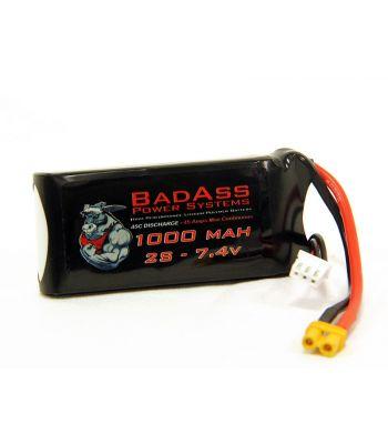 BadAss 45C 1000mah 2S LiPo Battery