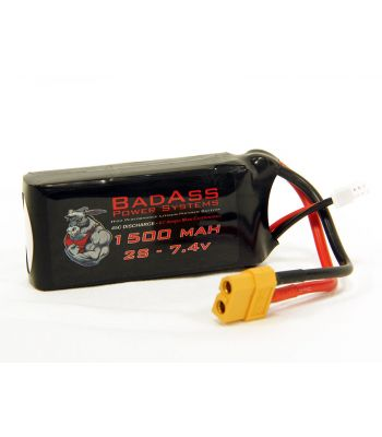 BadAss 45C 1500mah 2S LiPo Battery