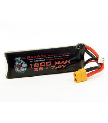 BadAss 45C 1800mah 2S LiPo Battery