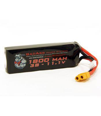 BadAss 45C 1800mah 3S LiPo Battery