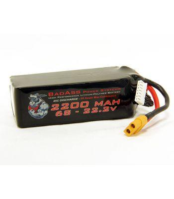 BadAss 45C 2200mah 6S LiPo Battery