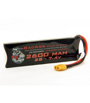 BadAss 45C 2600mah 2S LiPo Battery