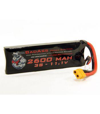BadAss 45C 2600mah 3S LiPo Battery