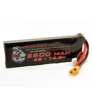 BadAss 45C 2600mah 4S LiPo Battery
