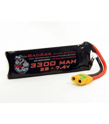 BadAss 45C 3300mah 2S LiPo Battery