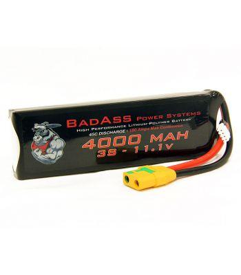 BadAss 45C 4000mah 3S LiPo Battery